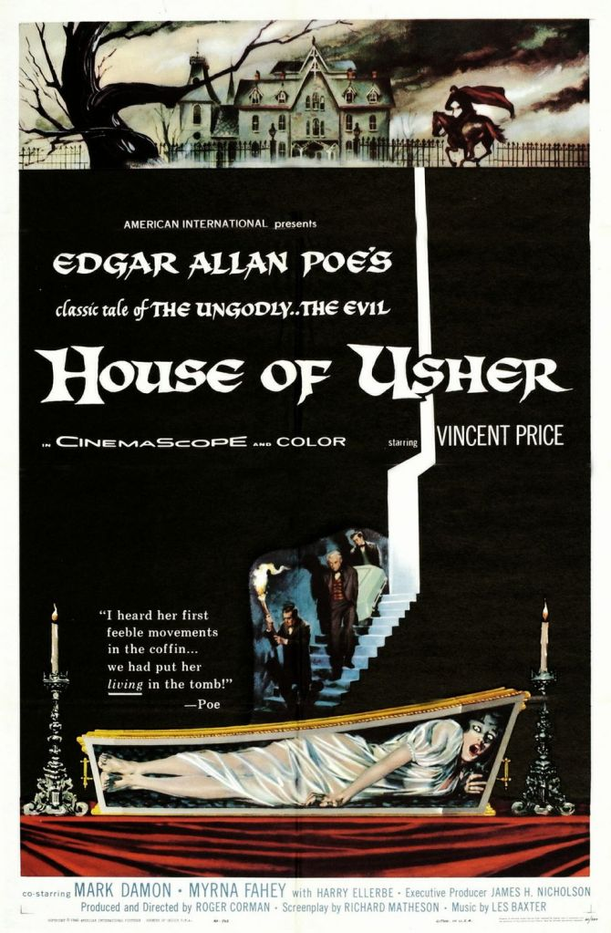 House of Usher 1960 poster