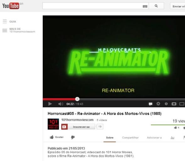 FireShot Screen Capture #063 - 'Horrorcast#05 - Re-Animator - A Hora dos Mortos-Vivos (1985) - YouTube' - www_youtube_com_watch_v=ac8mydIalu8