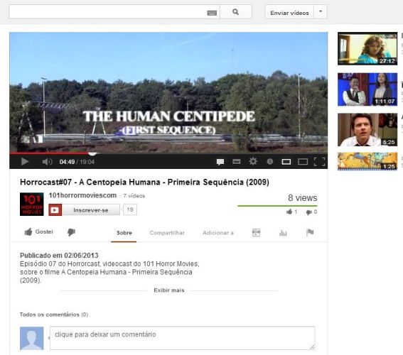 FireShot Screen Capture #067 - 'Horrocast#07 - A Centopeia Humana - Primeira Sequência (2009) - YouTube' - www_youtube_com_watch_v=IkGQrjgfQXA