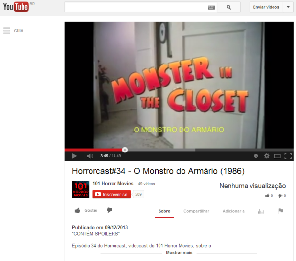 Horrorcast 34   O Monstro do Armário  1986    YouTube