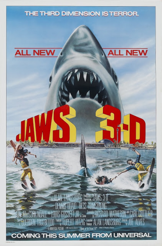 tiburon 3d - jaws 3-d - joe alves - 1981 - poster010